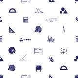 Mathematics icons seamless pattern Royalty Free Stock Photography