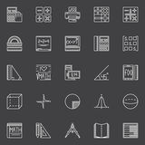 Mathematics icons set Stock Photography
