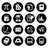 Mathematics Icons Set Stock Images