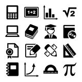 Mathematics Icons Set Royalty Free Stock Photos