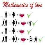Mathematics of love Stock Photography