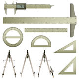 Mathematics Measurement Instrument vector illustration