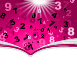 Mathematics Numbers Indicates Empty Space And Book Stock Image
