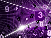 Mathematics Numbers Shows High Tec And Digits. Mathematics Numbers Representing High Tec And Numeracy Royalty Free Stock Image