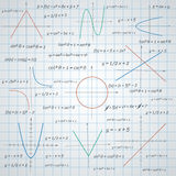 Mathematics paper background Royalty Free Stock Photos