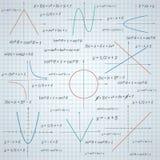 Mathematics paper background Royalty Free Stock Photos