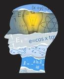 Mathematics physics student silhouette Stock Photo