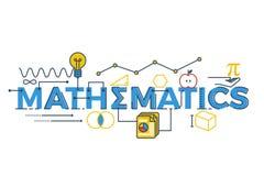 Mathematics słowa ilustracja Zdjęcia Stock