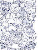 Mathematics science theme. Hand drawn pattern about school and learning in doodle style. Royalty Free Stock Images
