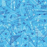 Mathematics seamless pattern Royalty Free Stock Image