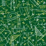 Mathematics seamless pattern Stock Photo