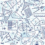 Mathematics seamless pattern Stock Photos