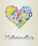 Mathematics in shape of heart Royalty Free Stock Photo