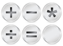 Mathematics sign circle icon Stock Photos