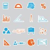 Mathematics stickers set Stock Photo