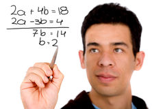 Mathematics student Royalty Free Stock Photography