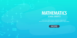Mathematics subject. Back to School background. Education banner. royalty free stock photography