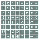 Mathematics Symbols Collection Stock Image