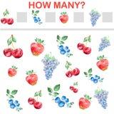 Mathematics task for Preschool Children Royalty Free Stock Image