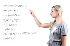 Mathematics teacher Stock Images