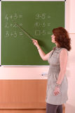 Mathematics teacher Royalty Free Stock Images