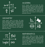 Mathematics template on chalkboard background. Stock Images