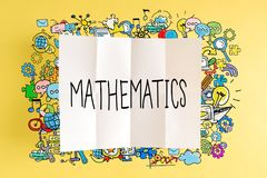 Mathematics text with colorful illustrations Royalty Free Stock Photos