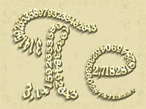 Free Mathematics The Letter E And PI Are Depicted From Figures Royalty Free Stock Photos - 79335308