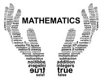 Mathematics typografii ręka Fotografia Royalty Free