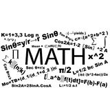 Mathematics typography formula royalty free stock photography