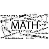 Mathematics typography formula Royalty Free Stock Photography