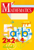 Mathematics. vector cover Royalty Free Stock Photos