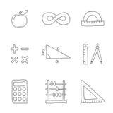 Mathematics. Vector icons Royalty Free Stock Photo