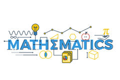Mathematics word illustration vector illustration