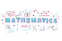 Mathematics word illustration Royalty Free Stock Image