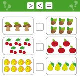 Mathematics worksheet for kids. Count educational children activity royalty free stock image