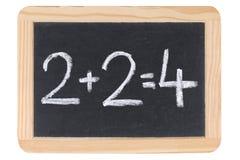 Mathematik auf einer Tafel oder einer Tafel Stockbilder