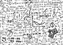 Mathematikbildungs-Kreishintergrund Mathe linearer mit geometr stock abbildung