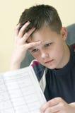 Mathematikheimarbeit Lizenzfreies Stockbild