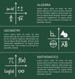 Mathematikschablone auf Tafelhintergrund Stockbilder