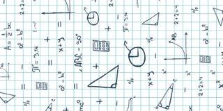 Mathematikthema Zurück zu Schule-Hintergrund (EPS+JPG) Bildungsfahne Stockfoto