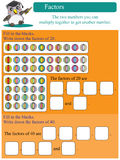 Mathematische Faktoren 2 Stockbilder