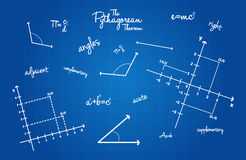 Mathematische Geometrie-Zeichen Lizenzfreie Stockbilder