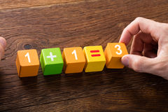 Mathematische Gleichung auf Block Lizenzfreie Stockfotografie