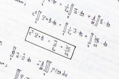 Mathematische Gleichungen Lizenzfreies Stockfoto