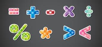 Mathematische Symbole vektor abbildung