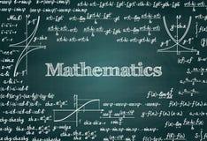 Mathematischer grüner Tafelhintergrund des Vektors lizenzfreie abbildung