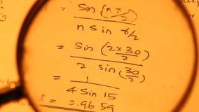 MathematischerHintergrund stock footage