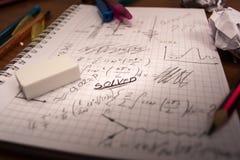 Mathematisches Notizbuch Lizenzfreie Stockfotografie