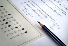 Mathematisches Prüfungpapier Lizenzfreie Stockbilder